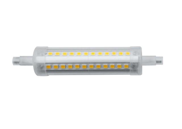 Lampe LED BENEITO R7S Tubulaire - 230V 11W 3000K 1210Lm 360° 118mm 25 000H dimmable - Garantie 2ans