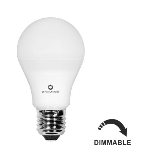 Lampe LED BENEITO Standard E27 - 10W 4000K 935Lm 25 000H Dimmable - Garantie 3ans