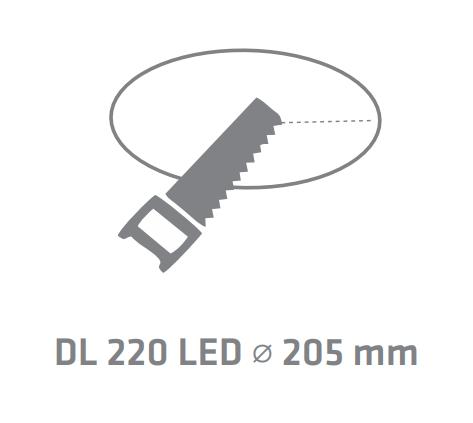 Downlight DL220 LED EVO Microprism-27W 3000K 2050Lm IP65 IK08 Ø220/85 72000H L80B20 - Garantie 5 ans