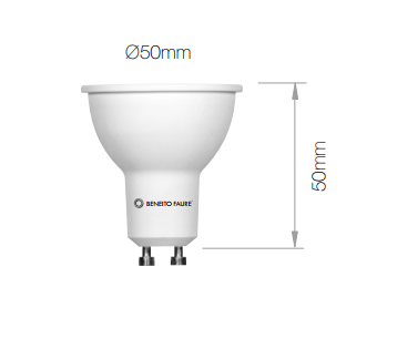 Lampe LED BENEITO GU10 Hook - 6W 3000K 594Lm 60° 25 000H - Garantie 3ans