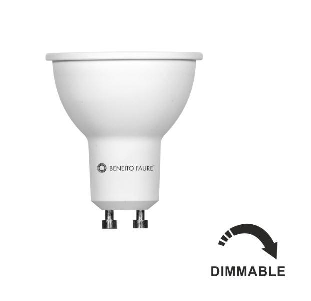 Lampe LED BENEITO GU10 Hook - 6W 3000K 594Lm 60° 25 000H dimmable - Garantie 3ans