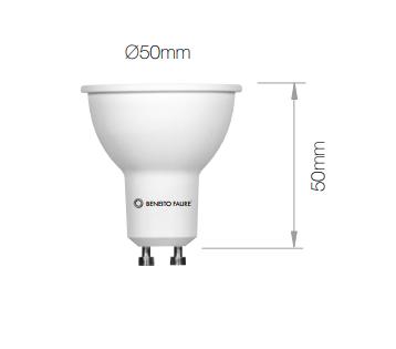 Lampe LED BENEITO GU10 Hook - 6W 4000K 616Lm 60° 25 000H - Garantie 3ans